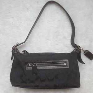Black Coach handbag EUC